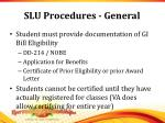 slu procedures general