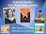 featured speaker pam munoz ryan author