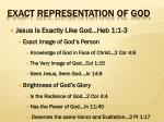 exact representation of god