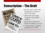 conscription the draft