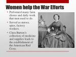 women help the war efforts