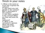 finish in your notes