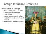 foreign influence grows p 1
