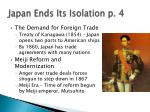 japan ends its isolation p 4