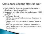 santa anna and the mexican war