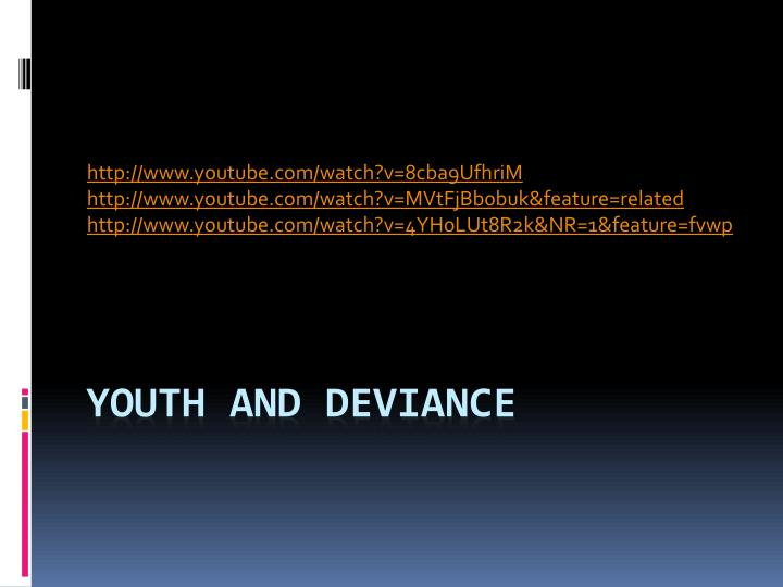 youth and deviance n.