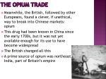 the opium trade