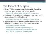 the impact of religion