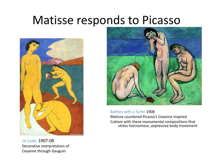 Matisse responds to Picasso