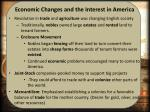 economic changes and the interest in america