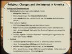 religious changes and the interest in america