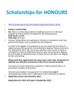 scholarships for honours