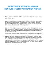 sydney medical school nepean honours student application process