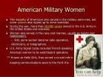 american military women