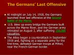 the germans last offensive