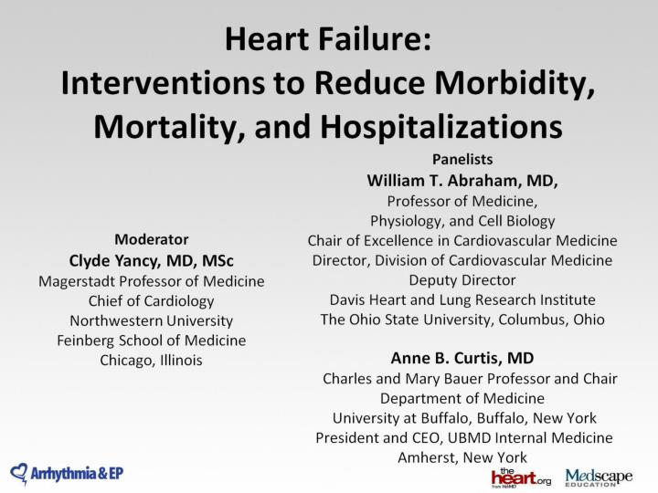 heart failure interventions to reduce morbidity mortality and hospitalizations n.