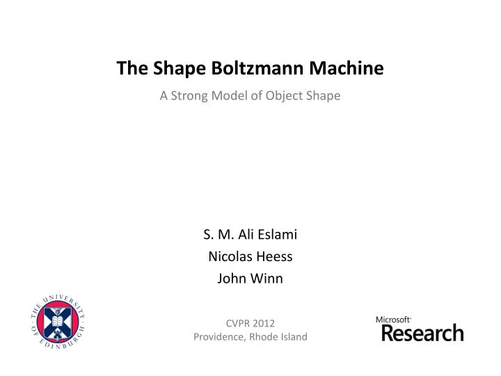 the shape boltzmann machine n.