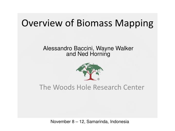 overview of biomass mapping n.