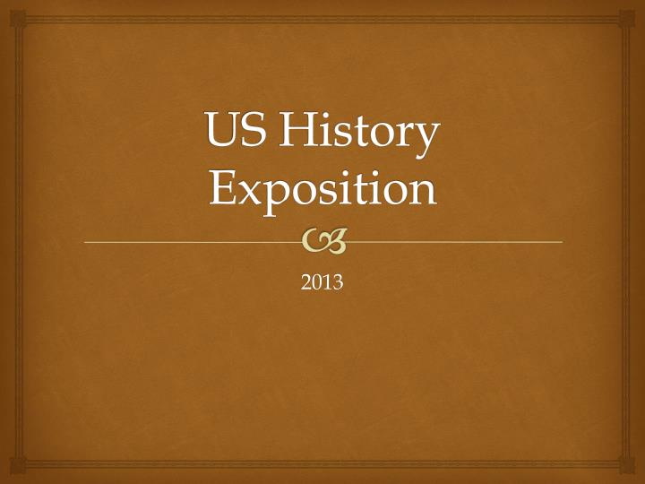 us history exposition n.