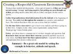 creating a respectful classroom environment1