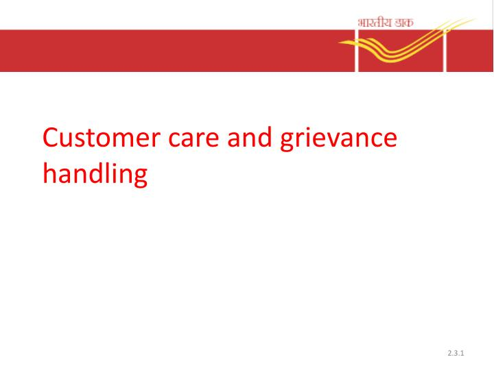customer care and grievance handling n.