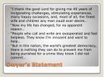 dwyer s statement