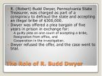 the role of r budd dwyer