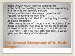 the unread statement of r budd dwyer
