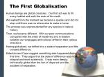 the first globalisation