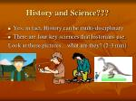 history and science