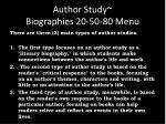 author study biographies 20 50 80 menu2