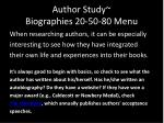 author study biographies 20 50 80 menu5