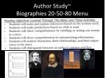 author study biographies 20 50 80 menu6