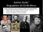 author study biographies 20 50 80 menu7