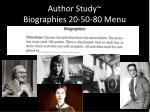 author study biographies 20 50 80 menu9