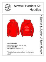 alnwick harriers kit hoodies