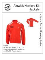 alnwick harriers kit jackets