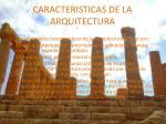 caracteristicas de la arquitectura