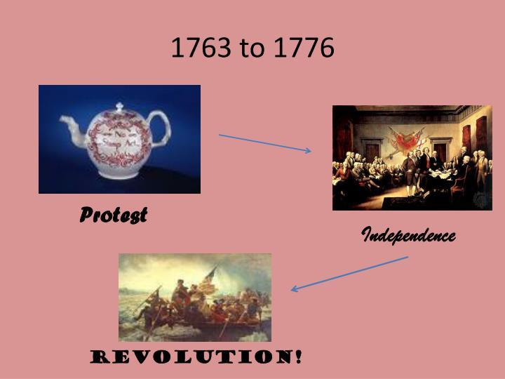 1763 to 1776