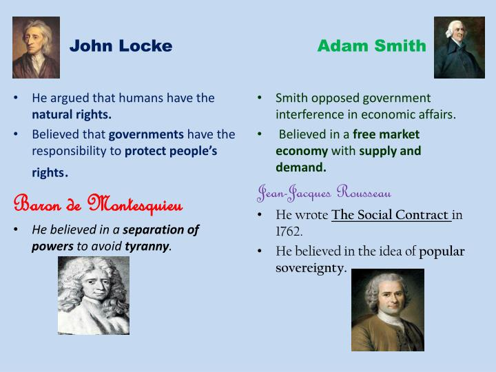 John locke adam smith