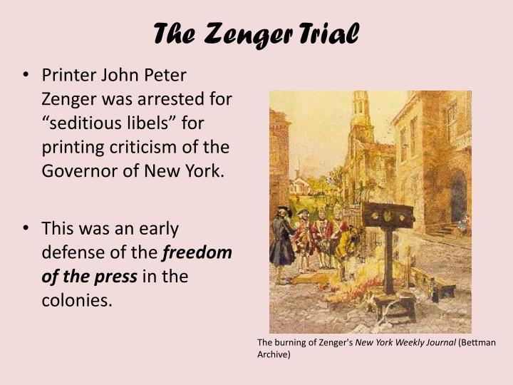 The Zenger Trial