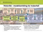 historikk modellutvikling for matavfall