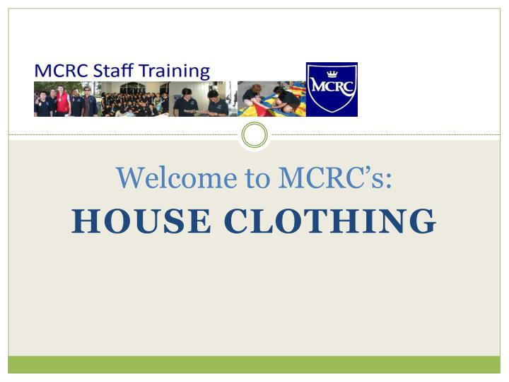 welcome to mcrc s n.