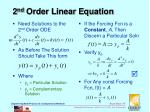 2 nd order linear equation
