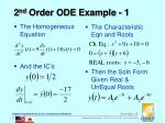2 nd order ode example 1