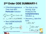 2 nd order ode summary 1