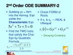 2 nd order ode summary 2