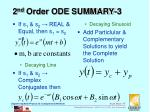 2 nd order ode summary 3