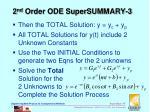 2 nd order ode supersummary 3