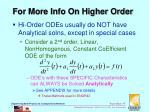 for more info on higher order